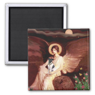 Seated Angel - Smooth Fox Terrier Square Magnet