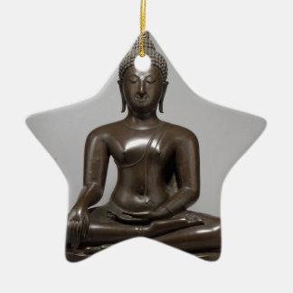 Seated Buddha - 15th century Ceramic Star Decoration