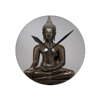 Seated Buddha - 15th century Round Clock