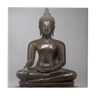 Seated Buddha - 15th century Tile