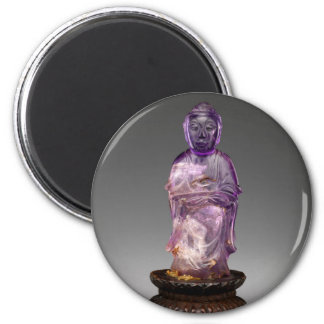 Seated Buddha - Qing dynasty (1644–1911) 6 Cm Round Magnet