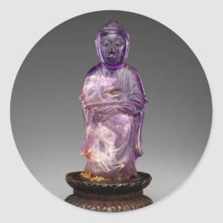 Seated Buddha - Qing dynasty (1644–1911) Classic Round Sticker