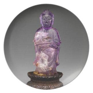 Seated Buddha - Qing dynasty (1644–1911) Plate