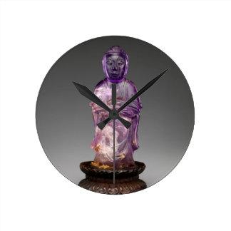 Seated Buddha - Qing dynasty (1644–1911) Round Clock