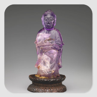 Seated Buddha - Qing dynasty (1644–1911) Square Sticker