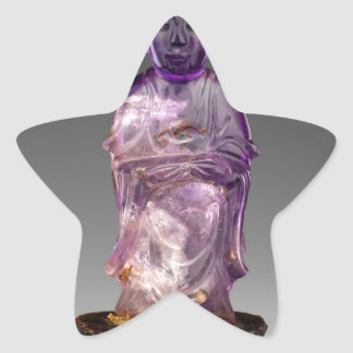 Seated Buddha - Qing dynasty (1644–1911) Star Sticker