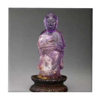 Seated Buddha - Qing dynasty (1644–1911) Tile