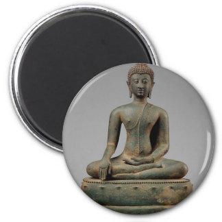 Seated Buddha - Thailand 6 Cm Round Magnet