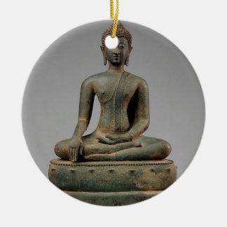 Seated Buddha - Thailand Round Ceramic Decoration