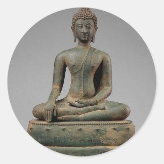 Seated Buddha - Thailand Round Sticker