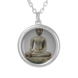 Seated Buddha - Thailand Silver Plated Necklace