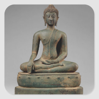 Seated Buddha - Thailand Square Sticker