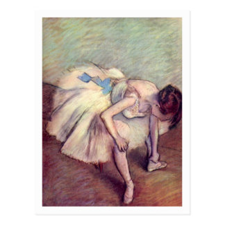 Seated Dancer by Edgar Degas Postcard