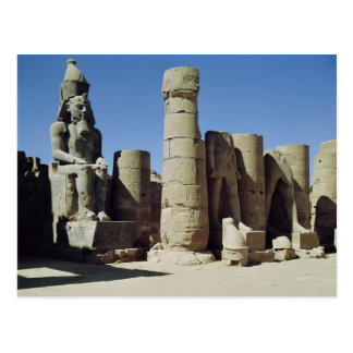 Seated statue of Ramesses II Postcard