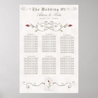 SEATING CHART 31 - 60 | Elegant Red Rose Wedding