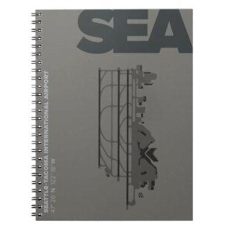 Seattle Airport (SEA) Diagram Notebook