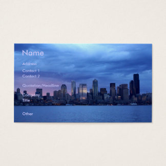 Seattle At Dusk Business Card