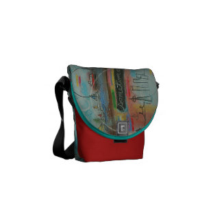 Seattle bag by Kim Anderson Art Courier Bag
