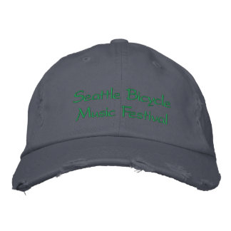 Seattle Bicycle Music Festival Hat Embroidered Baseball Caps