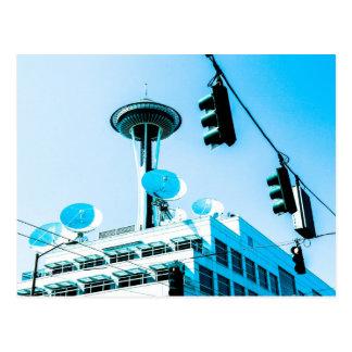 Seattle Blue Postcard