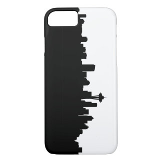 seattle city cityscape black silhouette america us iPhone 8/7 case
