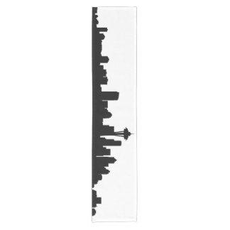 seattle city cityscape black silhouette america us short table runner