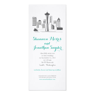 Seattle City Skyline Wedding Invitation