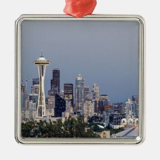Seattle cityscape metal ornament