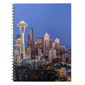 Seattle, Downtown and Mt. Rainier at Twilight Note Book