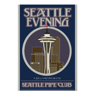 Seattle Evening Print