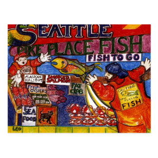 Seattle Fish Market Postcard