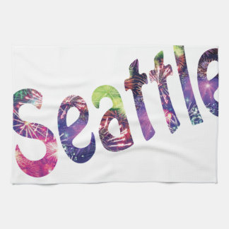 Seattle Fourth of July Tea Towel