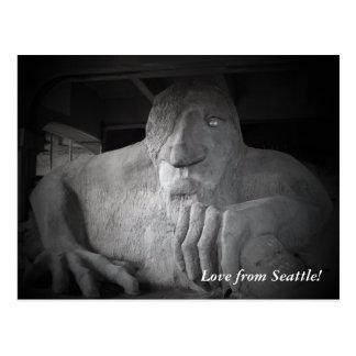 Seattle Fremont Troll Postcard