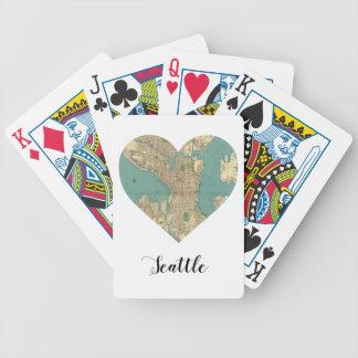 Seattle Heart Map Poker Deck