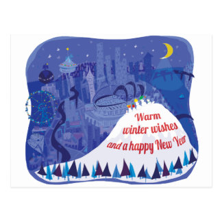 Seattle holiday greeting card post card