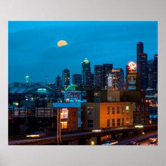 Seattle in All Her Landmarks Poster