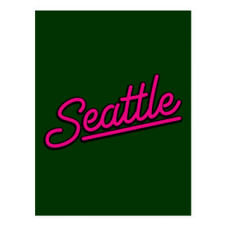 Seattle in magenta post cards