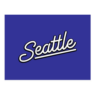 Seattle in white post cards