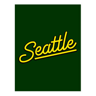 Seattle in yellow post cards