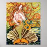 Seattle Mermaid Print