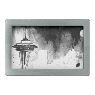 Seattle Mists Rectangular Belt Buckles