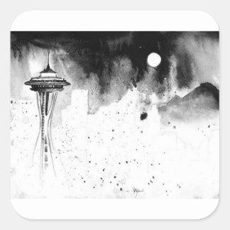 Seattle Mists Square Sticker