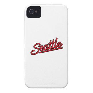 Seattle neon in red iPhone 4 Case-Mate cases