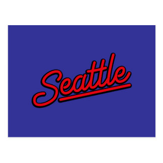 Seattle neon in red post cards