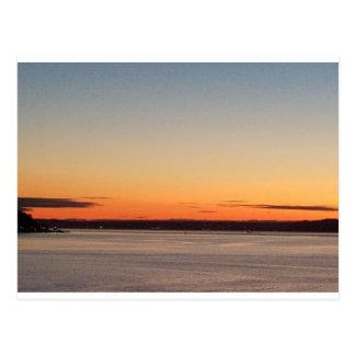 Seattle Orange Sunset Postcard