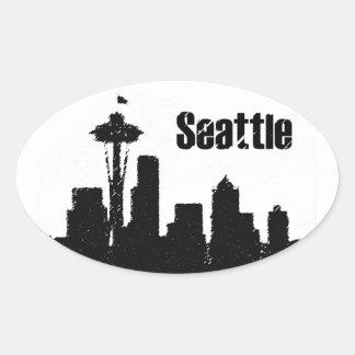 Seattle Oval Sticker
