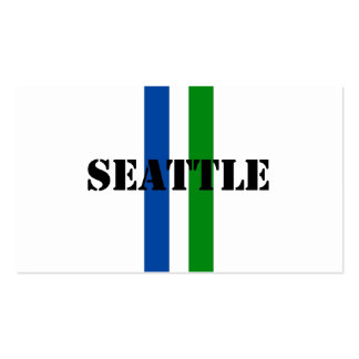 Seattle Pack Of Standard Business Cards