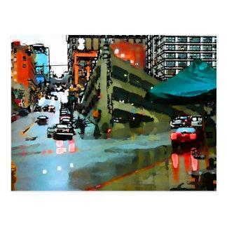 seattle parking garage postcard
