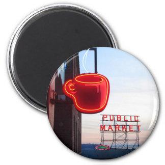Seattle Public Market 6 Cm Round Magnet
