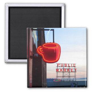 Seattle Public Market Refrigerator Magnet